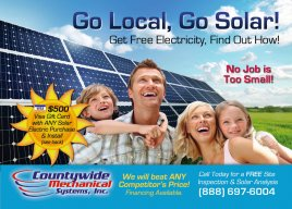 Up to $1,000 Off + Free Solar Analysis with card!
